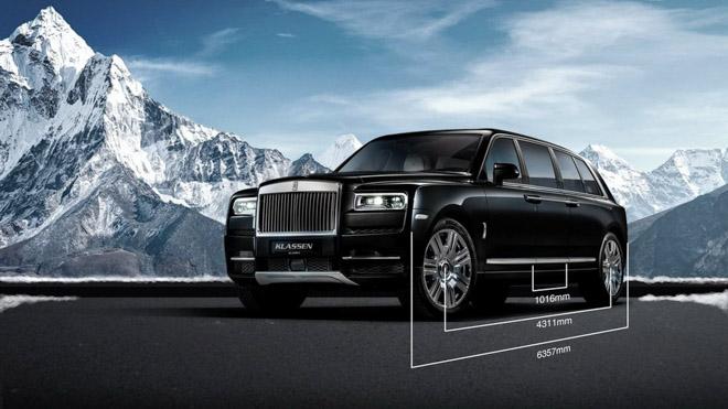 Rolls-Royce Cullinan độ kéo dài trục cơ sở bởi hãng độ Đức - 1