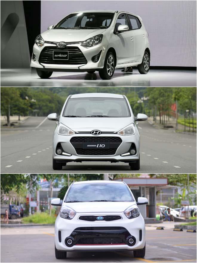 So sánh các thông số cơ bản của: Toyota Wigo vs Hyundai Grand i10 vs Kia Morning S - 1