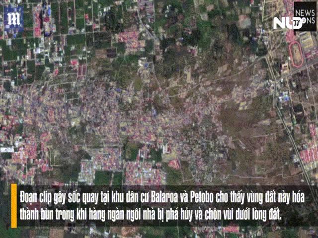 Sóng thần Indonesia: Cận cảnh đất hóa lỏng nhấn chìm cả làng