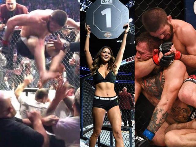 """Khabib hạ McGregor loạn đả UFC: Mỹ nhân vạ lây """"kinh hồn bạt vía"""""""