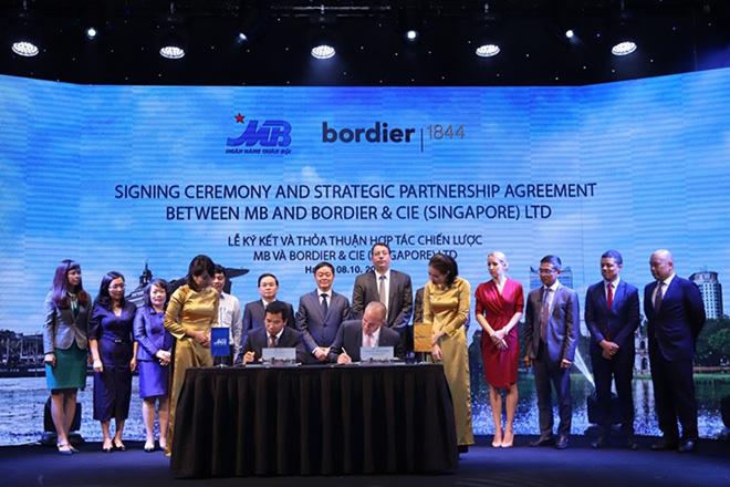 Ngân hàng Quân Đội ký kết thỏa thuận hợp tác chiến lược với Bordier & Cie Singapore - 1