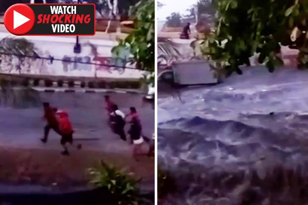 Video mới về sóng thần cao 6 mét ập vào thành phố Indonesia - 1