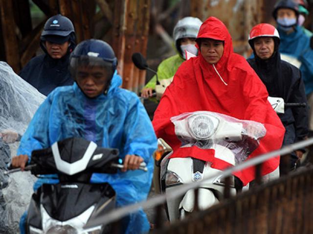 Không khí lạnh tràn về gây mưa, Hà Nội giảm 7-8 độ C