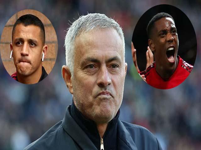 """Mourinho & mưu độc cứu hàng công MU: Sanchez & Martial """"lên hương"""""""