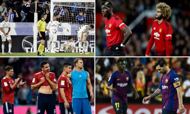 """MU - Barca - Real """"rủ nhau"""" tụt dốc: Mùa giải """"kỳ lạ"""" của bóng đá châu Âu - 1"""