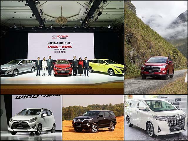 Doanh số Toyota tháng 9/2018: Fortuner trở lại thế độc tôn, Wigo bán được 238 chiếc trong chưa đầy 1 tháng