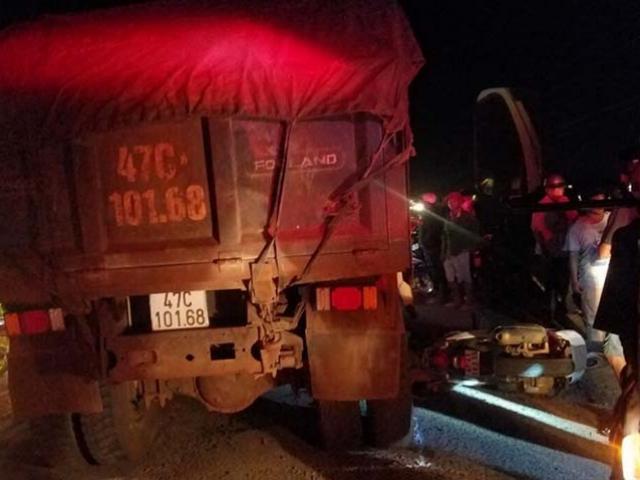 Một trung úy công an bị xe ben cán tử vong tại chỗ