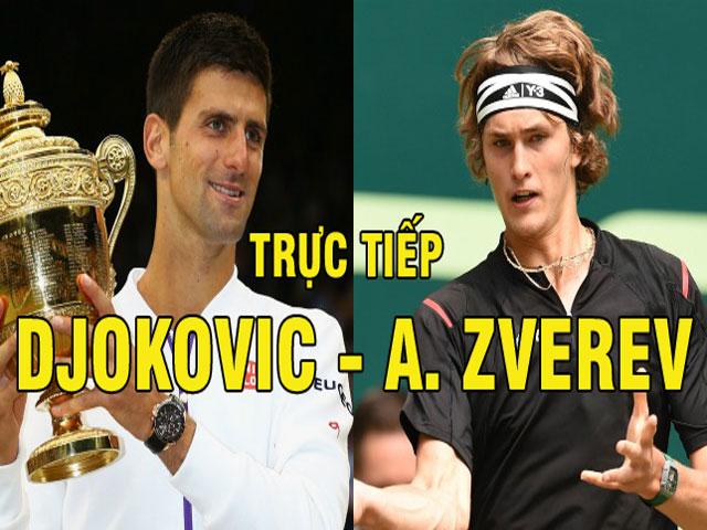 Trực tiếp Djokovic - Zverev: Choáng váng toàn tập set 2 (KT)
