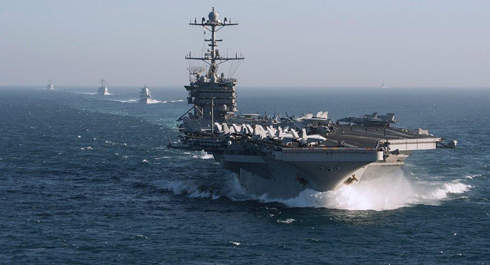 """Hạm đội tàu sân bay hùng hậu Mỹ """"dằn mặt"""" Nga ở Đại Tây Dương - 1"""