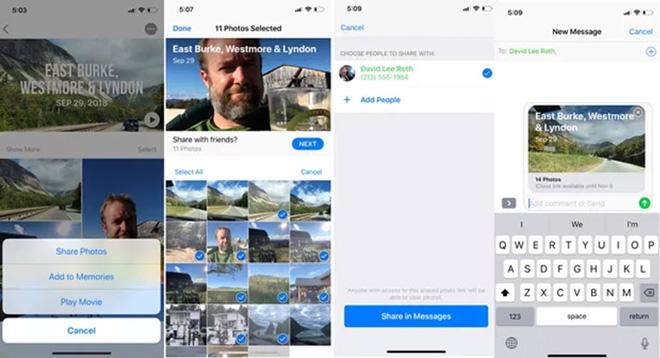 Thủ thuật iOS 12: Cách dễ nhất để chia sẻ ảnh và video trên iPhone - 1