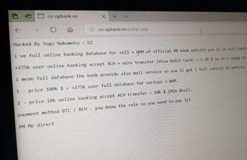 Website Ngân hàng Hợp tác xã Việt Nam bị hack, khách hàng cần làm gì? - 1