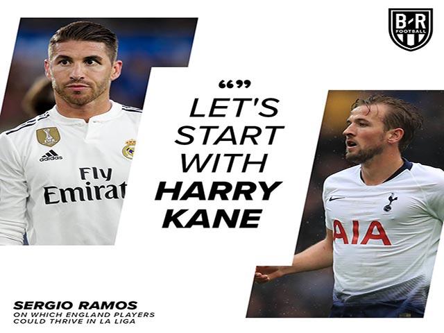 """""""Đại ca"""" Ramos chấm Harry Kane 100 điểm, giục """"Bố già"""" Real mua bom tấn"""