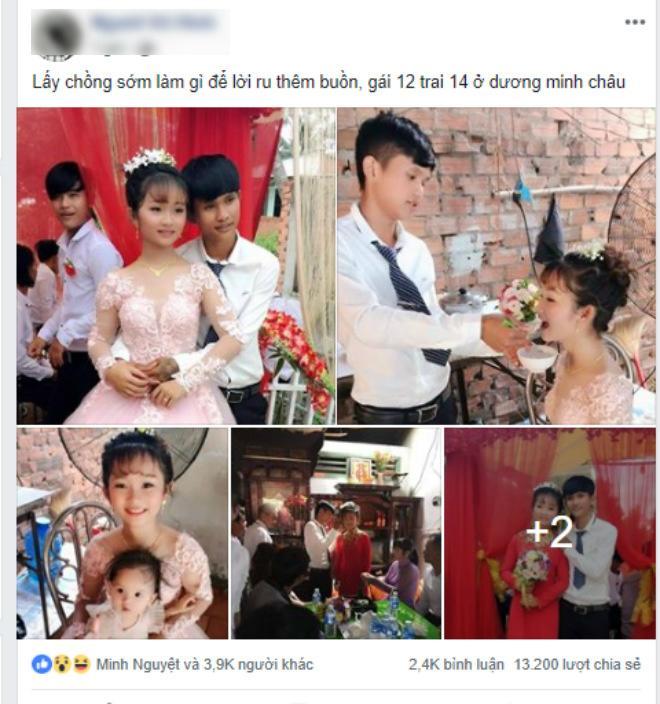 """Sự thật đám cưới """"Cô dâu 12, chú rể 14"""" xôn xao dân mạng - 1"""