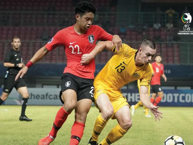 """Video, kết quả bóng đá U19 Hàn Quốc - U19 Australia: Ngỡ ngàng """"người gác đền"""" sắm vai tội đồ"""