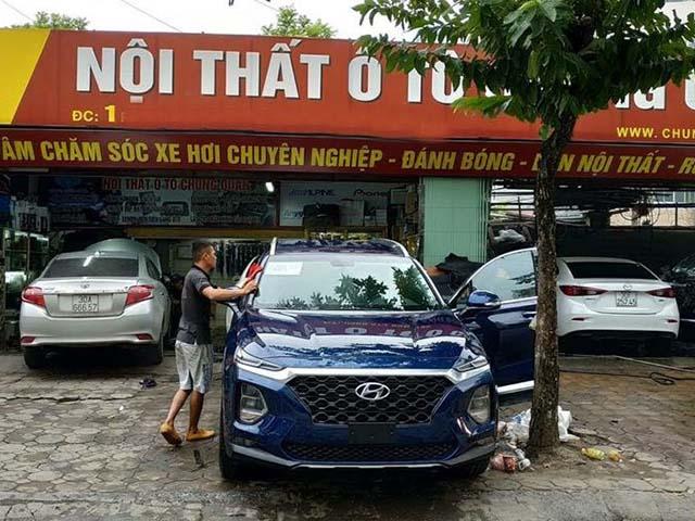 Hyundai SantaFe 2019 bất ngờ xuất hiện trên đường phố Hà Nội