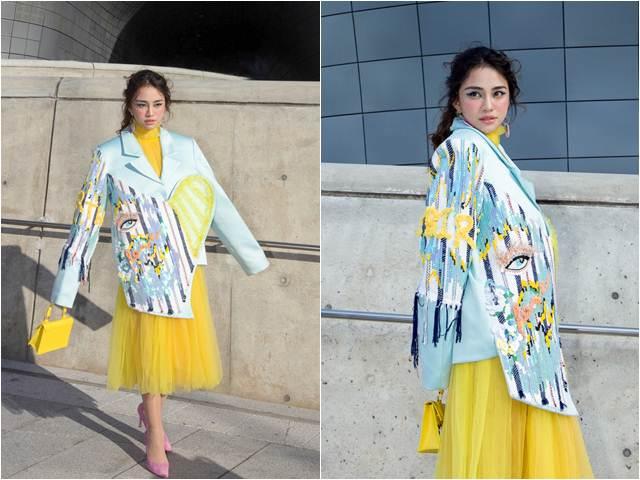 Thiên Nga nổi bật tại Tuần lễ thời trang Seoul