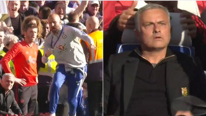 """Ẩu đả đại chiến MU - Chelsea: Lộ mặt kẻ trêu ngươi suýt bị Mourinho """"tẩn"""" - 1"""