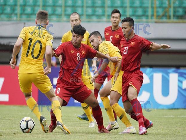 Trực tiếp U19 Việt Nam – U19 Australia: Thủng lưới vì bóng bổng