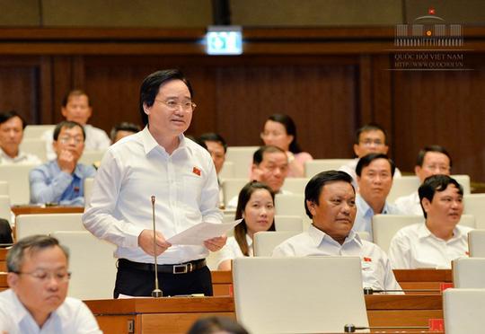 Bộ trưởng Phùng Xuân Nhạ giải trình về gian lận thi cử, sách giáo khoa - 1
