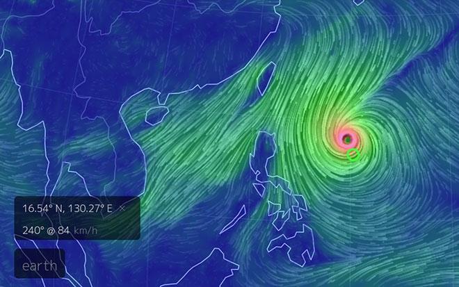 Siêu bão Yutu với sức gió tới 200km/h, giật cấp 17 gần Biển Đông - 1