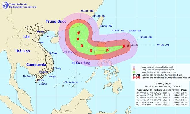 Siêu bão Yutu giật trên cấp 17 đang di chuyển nhanh về phía Biển Đông - 1