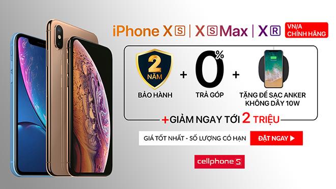 CellphoneS tặng ngay 2 triệu gói BH 2 năm, khi đặt trước iPhone XR XS XS Max chính hãng - 1