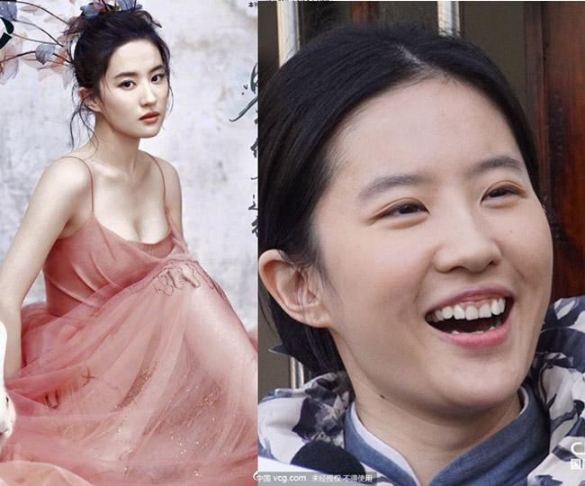 """Mặt mộc lắm khuyết điểm, Lưu Diệc Phi vẫn là đệ nhất """"thần tiên tỷ tỷ"""" của Kim Dung - 1"""