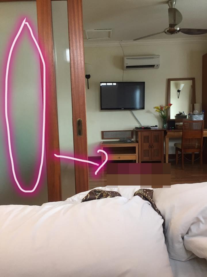 Lẻn vào phòng với ý đồ đen tối, nhân viên resort bị cô gái đánh chảy máu mũi - 1