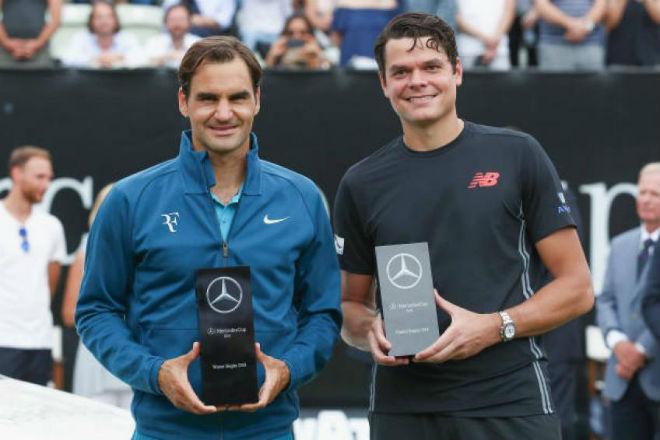 """Paris Masters ngày 2: Nghẹt thở """"đấu súng"""", Raonic gặp Federer - 1"""