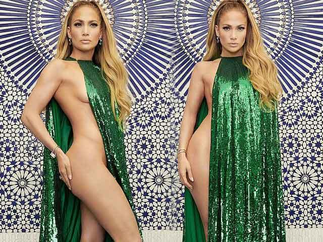Váy hở đúng nửa thân người của Jennifer Lopez gây choáng