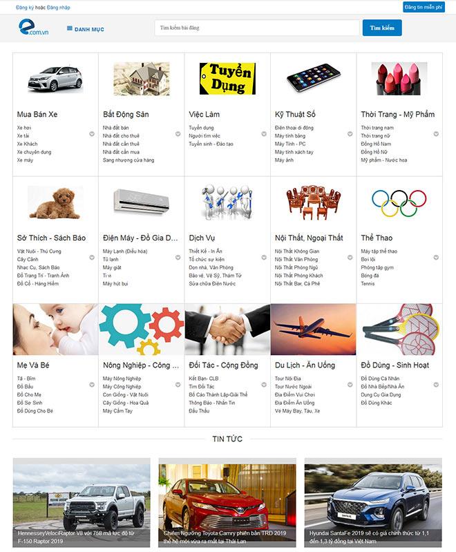 E.com.vn website rao vặt miễn phí với nhiều tính năng ưu việt - 1