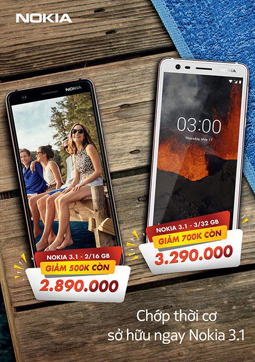 Chớp thời cơ sở hữu smartphone Nokia 3.1 với mức giá chấn động - 1