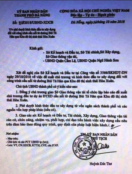 Đà Nẵng lên tiếng văn bản giả mạo UBND thành phố để tạo cơn sốt đất - 1