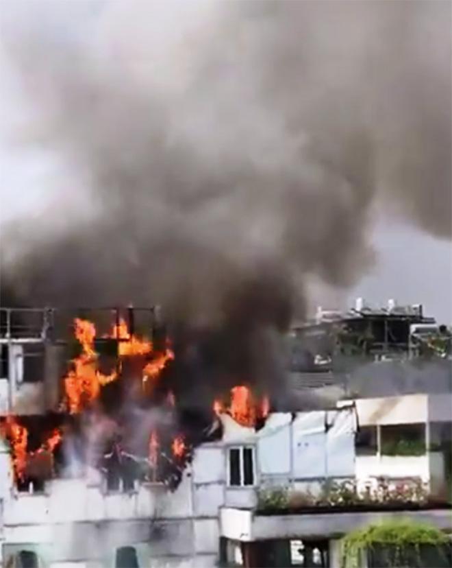 Vụ khách sạn giữa Sài Gòn rực lửa: Xuất hiện nhóm người nghi có liên quan - 1