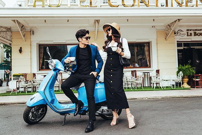 Cặp trai tài gái sắc vi vu đường phố Sài Gòn cùng biểu tượng nước Ý - 1