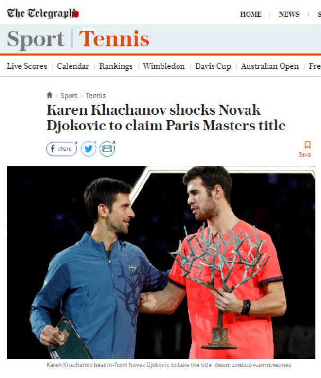 Djokovic thua sốc Paris Masters: Báo chí hả hê, tin Federer có thể báo thù - 1