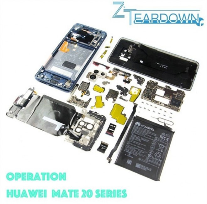 Giải phẫu smartphone có 4 camera Huawei Mate 20 Pro - 1