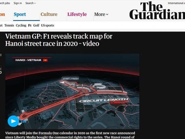 Việt Nam chính thức đăng cai F1 2020: Báo chí thế giới rầm rộ đưa tin