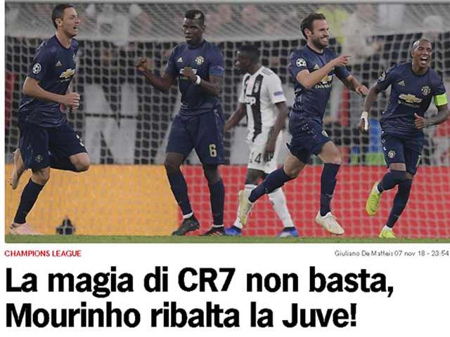 """MU ngược dòng khó tin hạ Juventus: Báo Anh tuyên dương """"tinh thần 1999"""""""