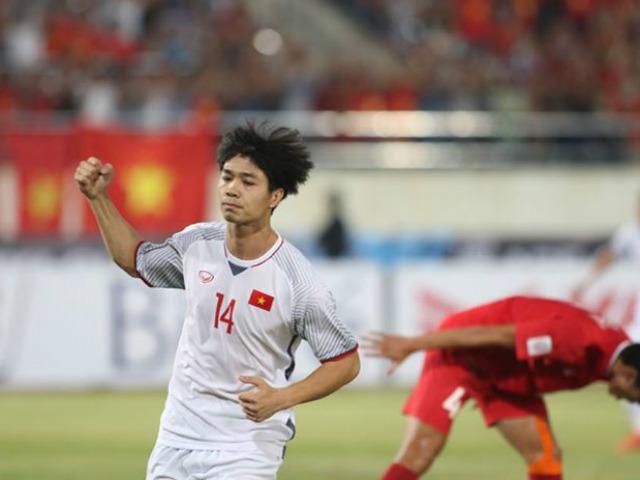 """Công Phượng """"nã đại bác"""", Việt Nam tưng bừng phá lưới Lào (AFF Cup)"""