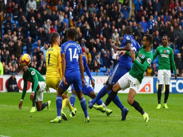 """Video, kết quả bóng đá Cardiff - Brighton: Thẻ đỏ & bàn thắng """"vàng"""" phút 90"""