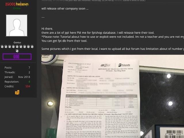 Sau phát tán dữ liệu Con Cưng và dọa FPT Shop, hacker còn bí mật gì?