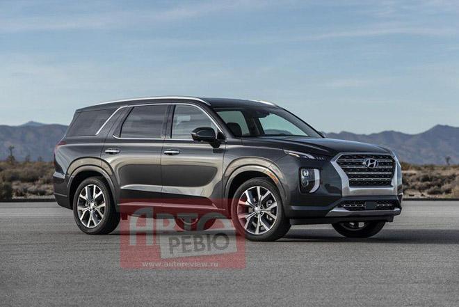 SUV cỡ lớn Hyundai Palisade lộ ảnh thực tế trước khi ra mắt - 1