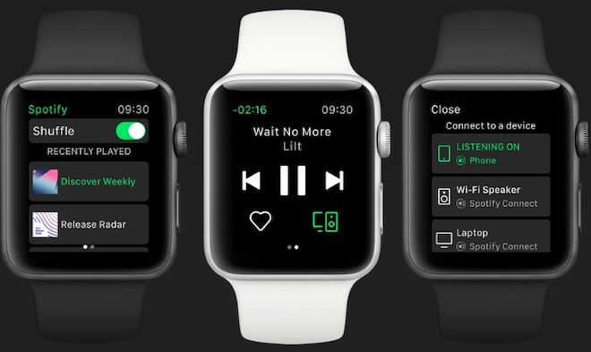 """Ứng dụng nghe nhạc Spotify """"cập bến"""" Apple Watch với trái tim trên màn hình - 1"""