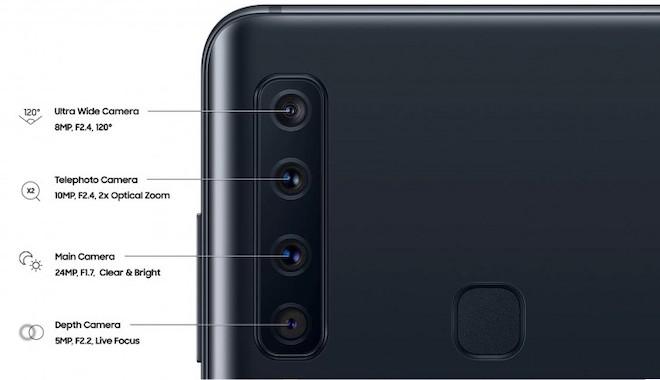Samsung Galaxy A9 với 4 camera sau sắp lên kệ, giá 12,49 triệu đồng - 1