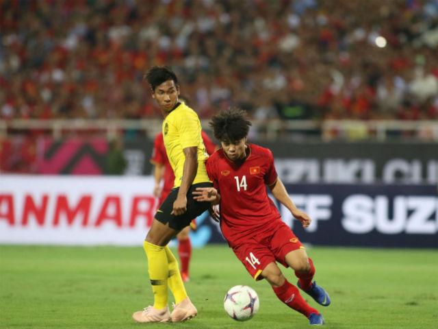 Công Phượng bị cầu thủ Malaysia giật cùi chỏ, trọng tài lờ thẻ đỏ