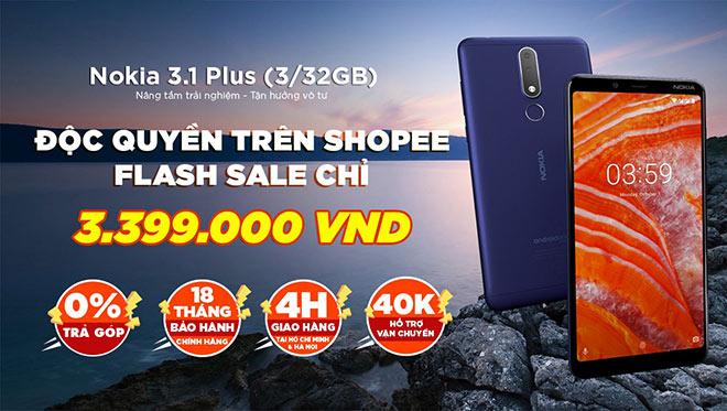 Smartphone mới ra Nokia 3.1 Plus được bán độc quyền trên Shopee với giá cực sốc - 1