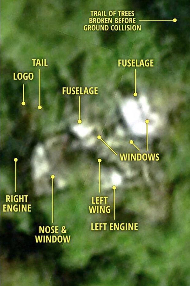Hình ảnh toàn bộ mảnh vỡ máy bay MH370 trong rừng Campuchia? - 1