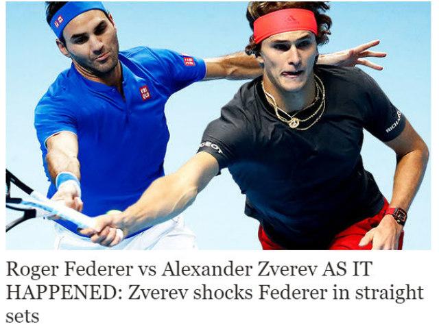 Federer thua Zverev: Báo chí sốc nặng, nỗi đau tan vỡ giấc mộng thứ 100