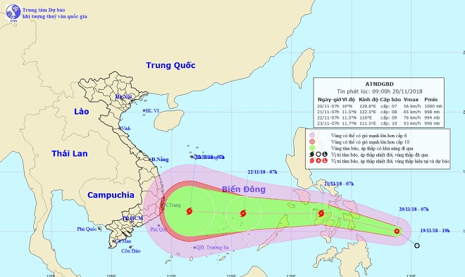 Low tropical pressure can move